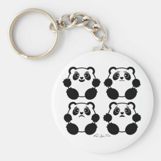4 Emotional Pandas Keychain