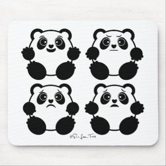 4 Emotional Pandas Mouse Pad