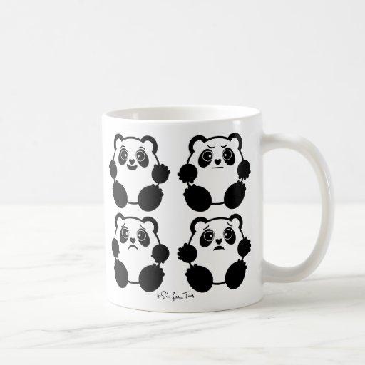 4 Emotional Pandas Mugs