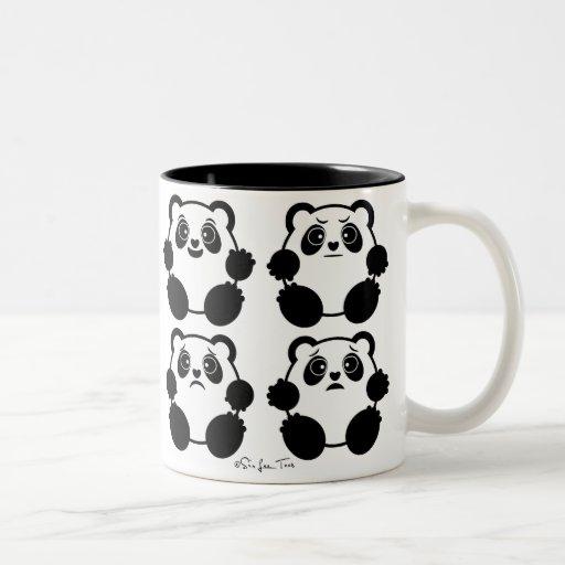 4 Emotional Pandas Mug