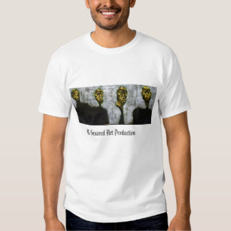 4 emotions/faces  M-Squared Art Production Shirt