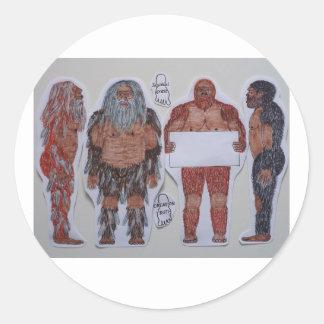 4 escudo sagital Bigfoot, Pegatinas Redondas