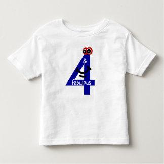 4 & fabulous! toddler t-shirt