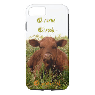 4 farms, 4 food, 4 grass-fed calf iPhone 7 case