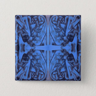 4 Figures Abstract in Blue Button