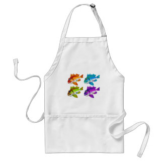 4 Fish abstract art Gifts Adult Apron