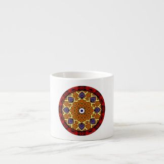 4 Flames Round Shield Alternate Espresso Cup