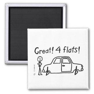 4 Flats Fridge Magnets