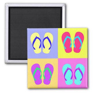 4 Flip-Flops Refrigerator Magnet