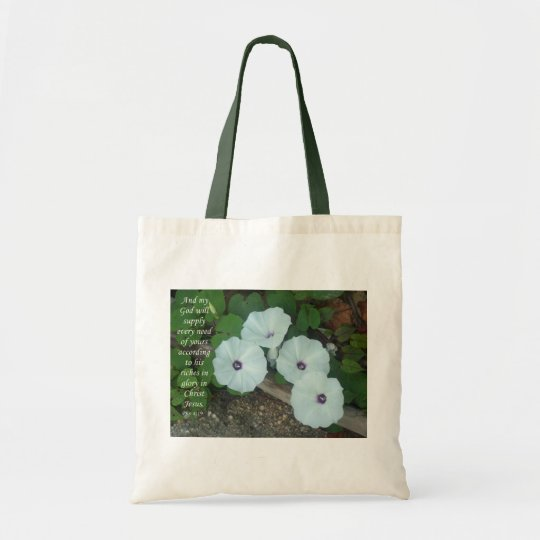 4 flowers tote bag