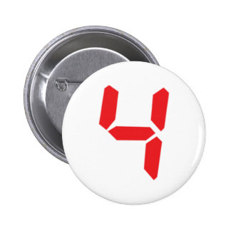 4 four red alarm clock digital number button