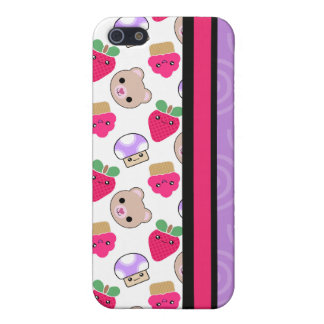 4 Fruit Teddy Cupcake Kawaii  Cover For iPhone SE/5/5s