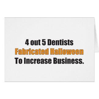 4 fuera de 5 dentistas fabricaron Halloween Tarjeta De Felicitación