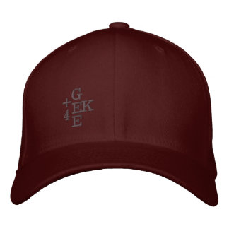 +4 GEEK EMBROIDERED BASEBALL HAT