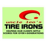 4 generaciones de hierros de neumático de tío Leo Postal