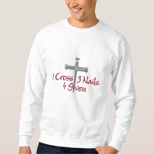 4 Given Cross Embroidered Sweatshirt