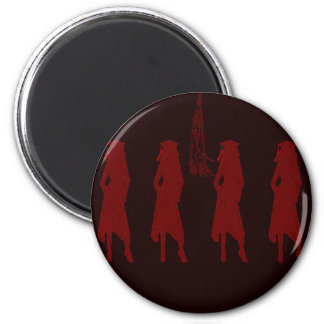 4 Grad Girl Silhouettes in Red Magnet