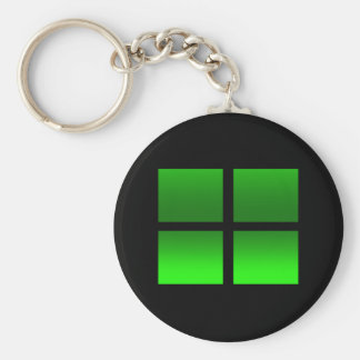4 Gradient Boxes in Green Keychain