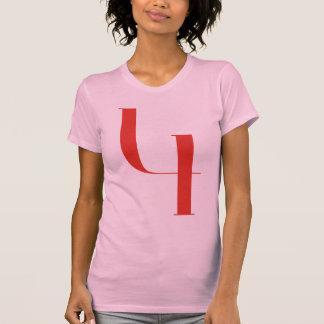 4 grandes: Jeanne Moderno Lettres Camisetas