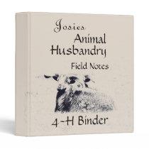4-H Animal Husbandry Personalized Binder