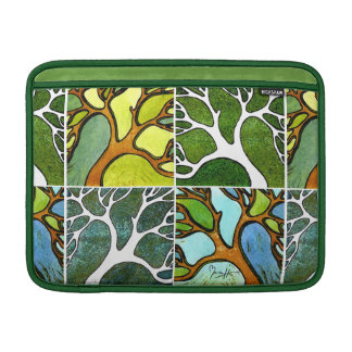 4 Hand Carved Trees in Watercolor and Pen & Ink MacBook Sleeve