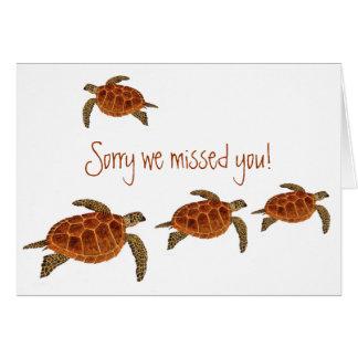 4 Hawksbill Turtles Greeting Card