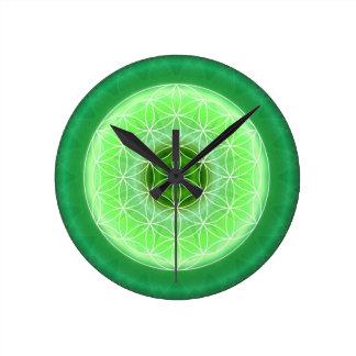 4 heart chakra green created by Tutti Round Wallclocks