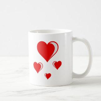 4 hearts coffee mug