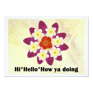 4 Hi Hello How ya doing Card