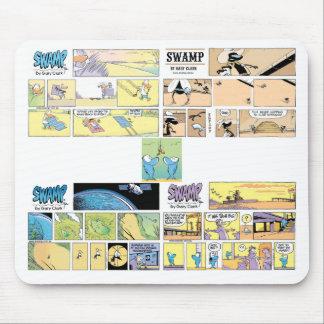 4 Hilarious Swamp Cartoons Mousepad
