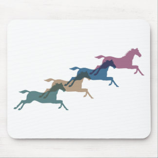 4 Horses Mouse Pad