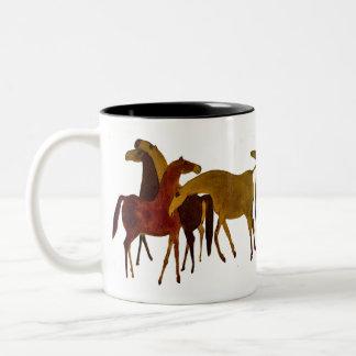 4-HORSES TAZA DE DOS TONOS