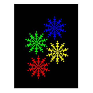 4 Ice Crystals Postcards