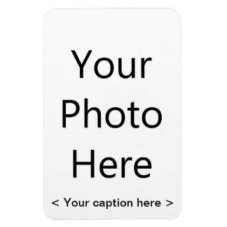 "4"""" imán de la foto del retrato x6 (texto negro)"