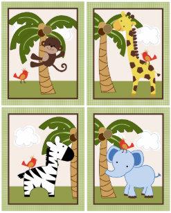 jungle buddies art wall décor zazzle
