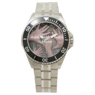 4 inch by 6 inch Horizontal Photo Wrist Watch