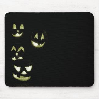 4 Jack-O-Linternas del Lit - amarillo Tapetes De Ratón