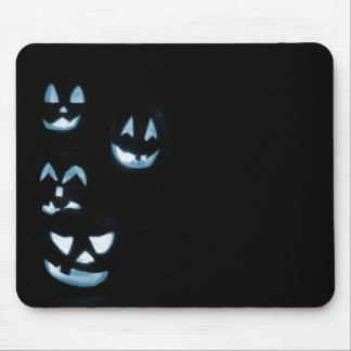 4 Jack-O-Linternas del Lit - azul Alfombrillas De Ratón