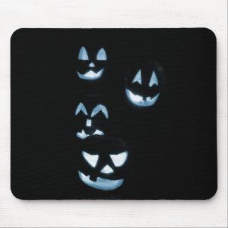 4 Jack-O-Linternas del Lit - azul Mouse Pads