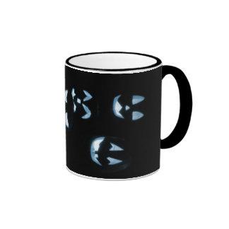4 Jack-O-Linternas del Lit - azul Taza De Dos Colores