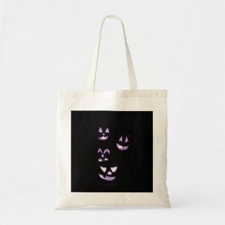 4 Jack-O-Linternas del Lit - púrpura Bolsas De Mano