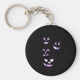 4 Jack-O-Linternas del Lit - púrpura Llavero Redondo Tipo Pin