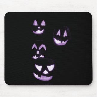 4 Jack-O-Linternas del Lit - púrpura Tapetes De Ratones