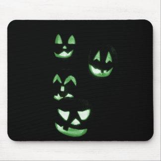 4 Jack-O-Linternas del Lit - verde Alfombrilla De Ratones