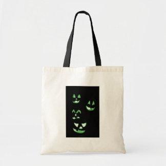4 Jack-O-Linternas del Lit - verde Bolsa Lienzo