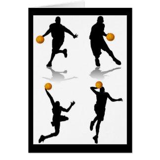 4 jugadores de básquet tarjetas