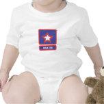4 july army logo baby creeper