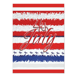"4 July ""Independence day"" party CUSTOMIZABLE Card"