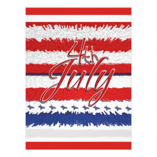 4 July Independence day party CUSTOMIZABLE Invites