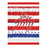 """4 July """"Independence day"""" party CUSTOMIZABLE 6.5"""" X 8.75"""" Invitation Card"""